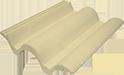 telha tradição marfim palha